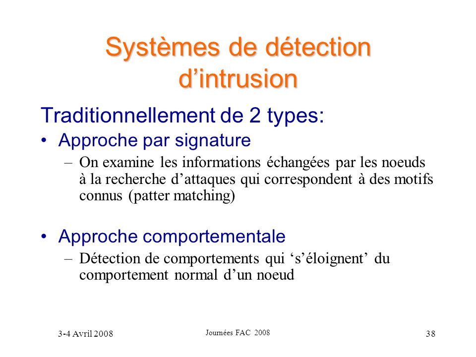Systèmes de détection d'intrusion