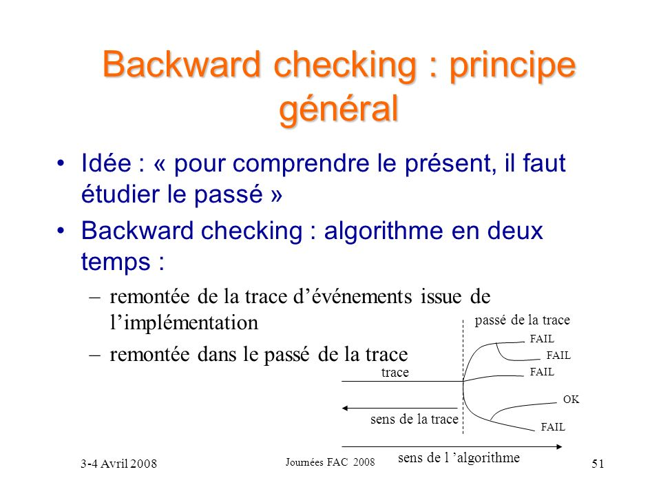 Backward checking : principe général