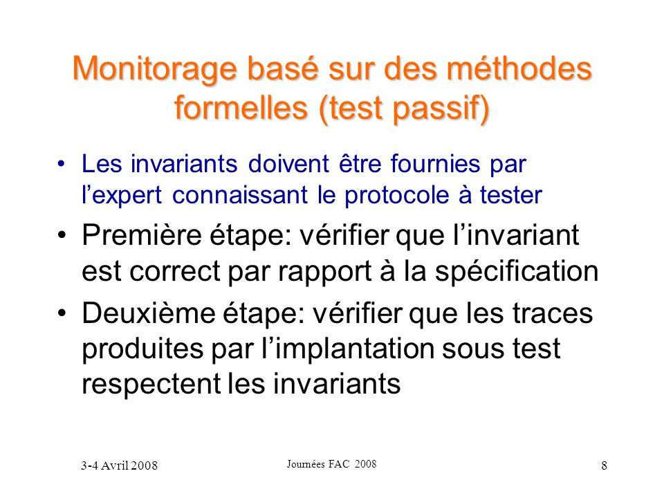 Monitorage basé sur des méthodes formelles (test passif)