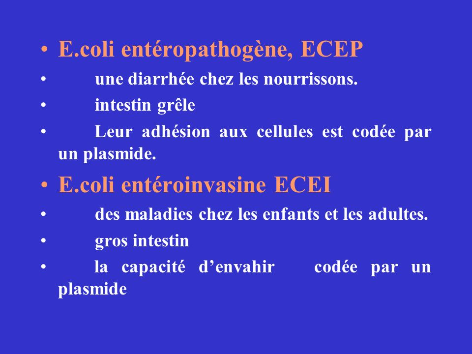 E.coli entéropathogène, ECEP