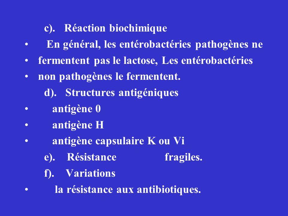 c). Réaction biochimique