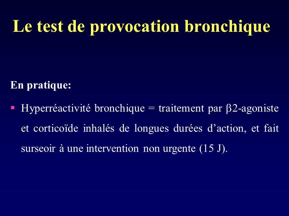 Le test de provocation bronchique