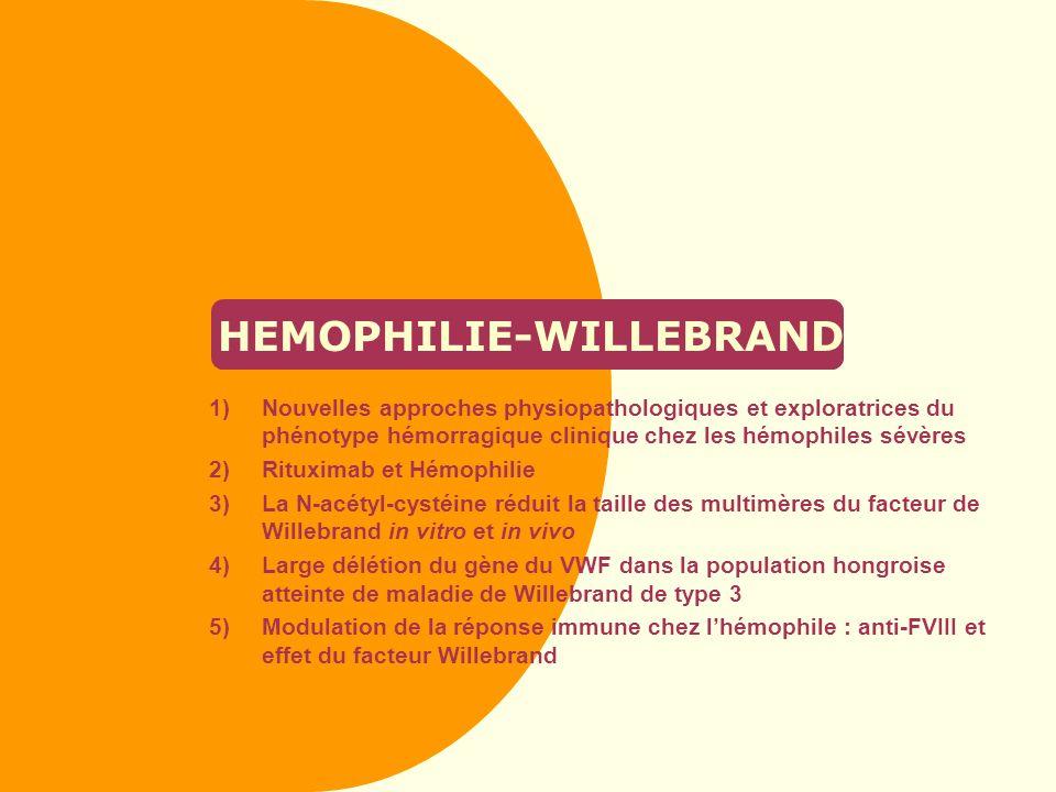 HEMOPHILIE-WILLEBRAND