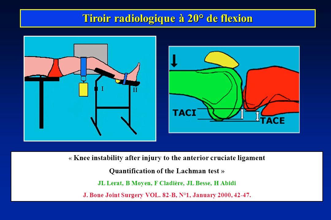 Tiroir radiologique à 20° de flexion