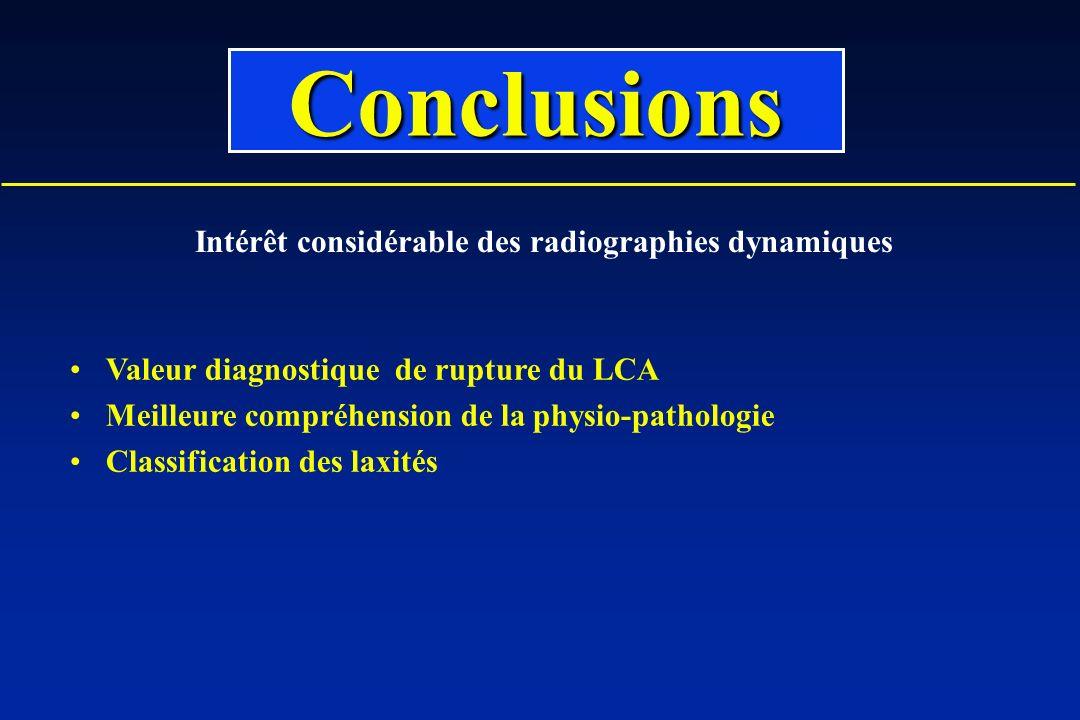 Intérêt considérable des radiographies dynamiques