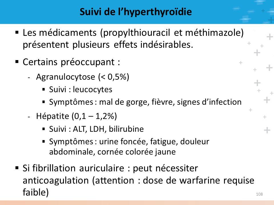 Suivi de l'hyperthyroïdie