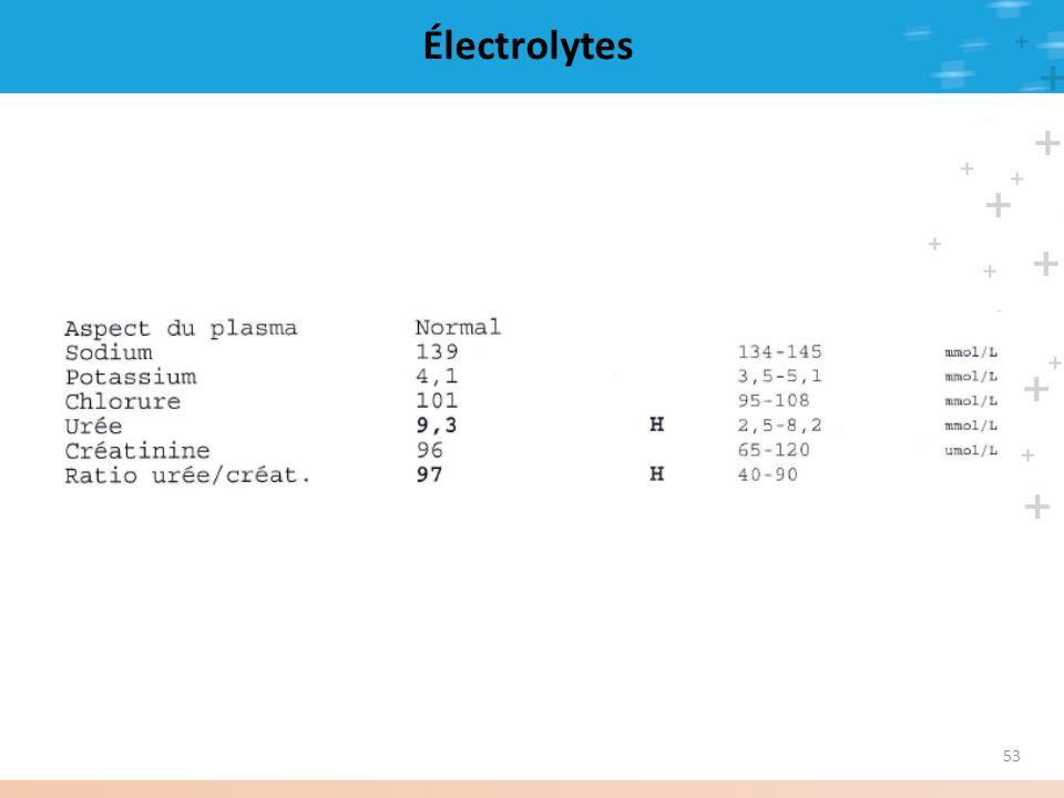 Électrolytes 53