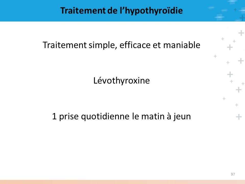 Traitement de l'hypothyroïdie