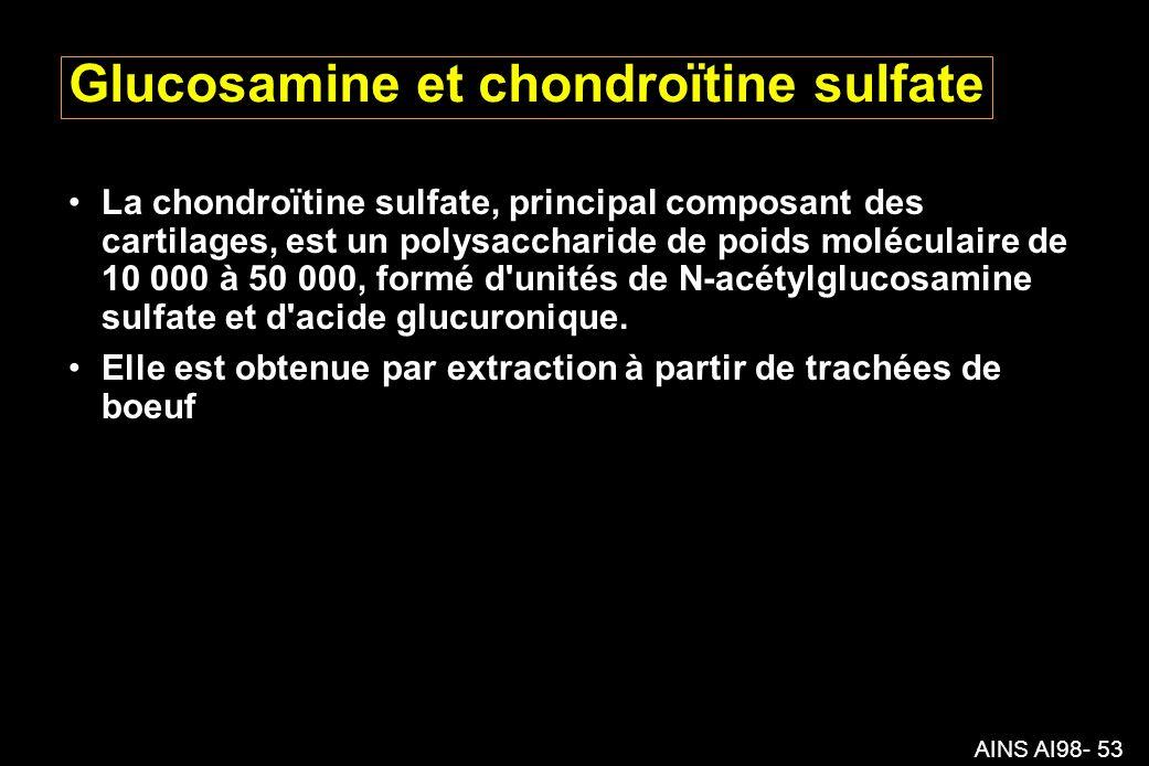 Glucosamine et chondroïtine sulfate