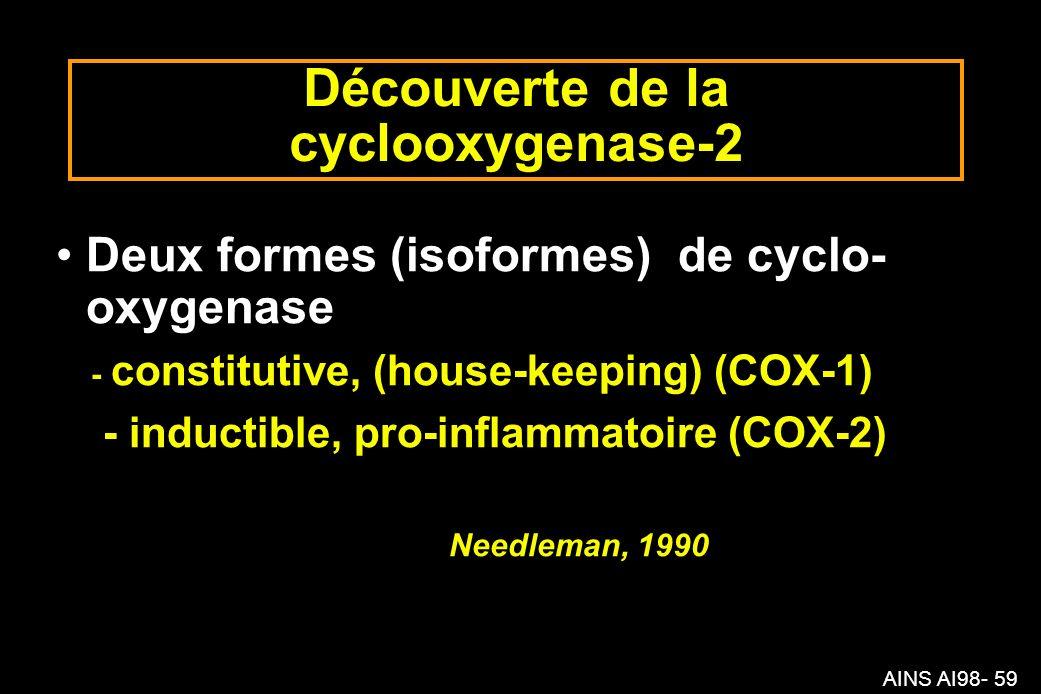 Découverte de la cyclooxygenase-2