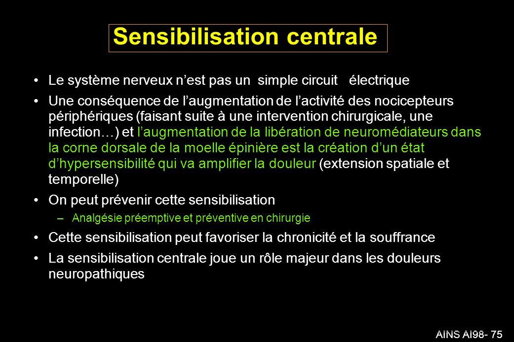 Sensibilisation centrale
