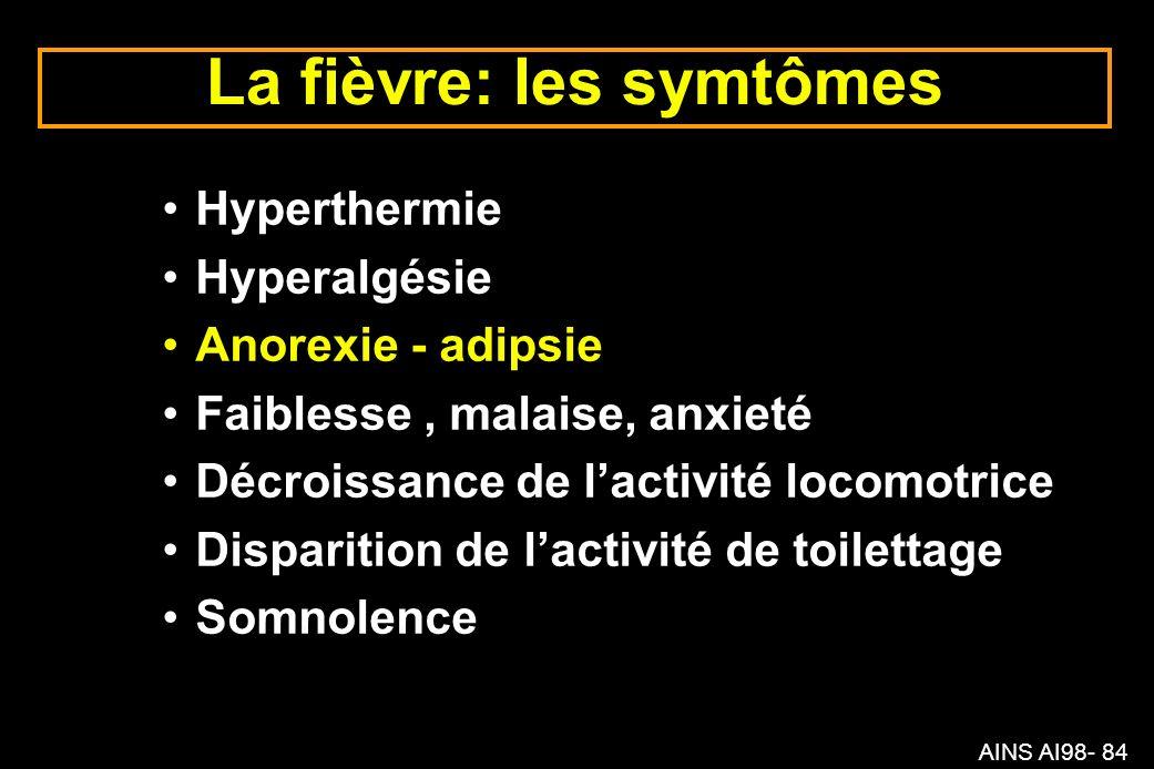La fièvre: les symtômes