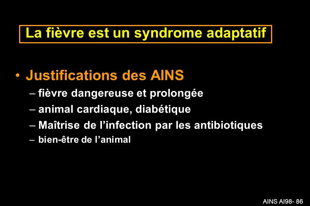 La fièvre est un syndrome adaptatif