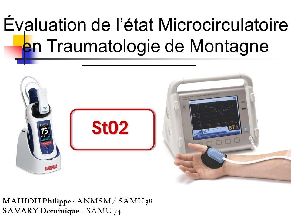 Évaluation de l'état Microcirculatoire en Traumatologie de Montagne