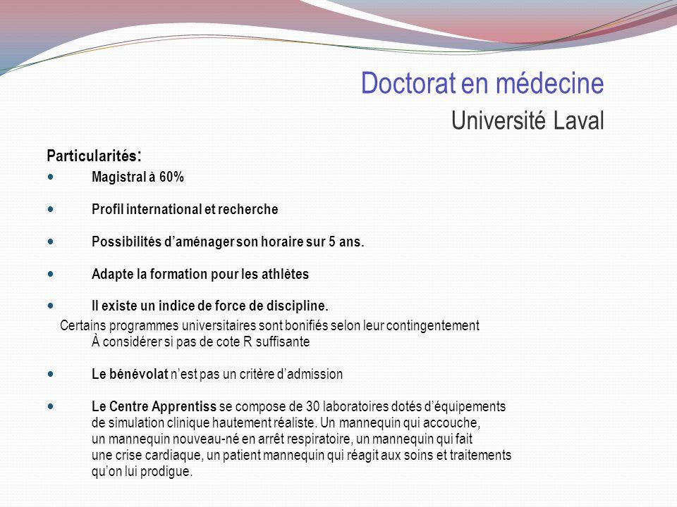 Doctorat en médecine Université Laval