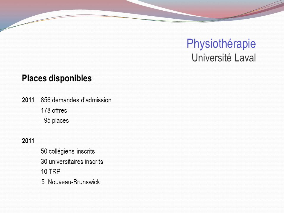 Physiothérapie Université Laval