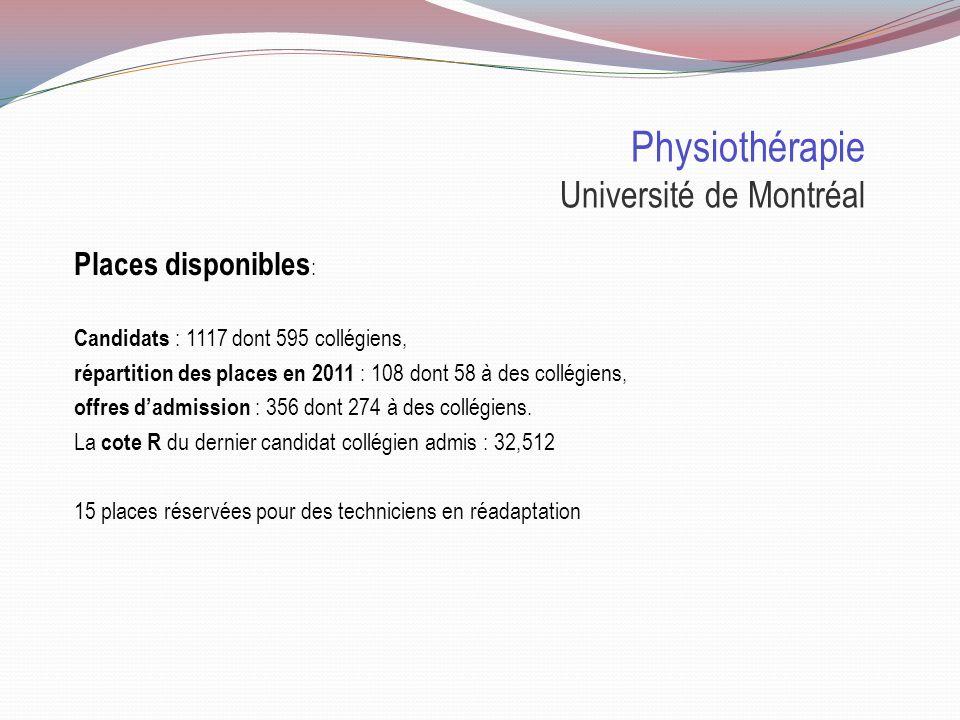 Physiothérapie Université de Montréal