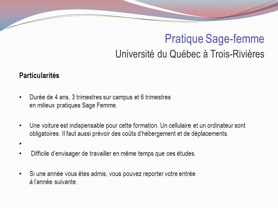 Pratique Sage-femme Université du Québec à Trois-Rivières