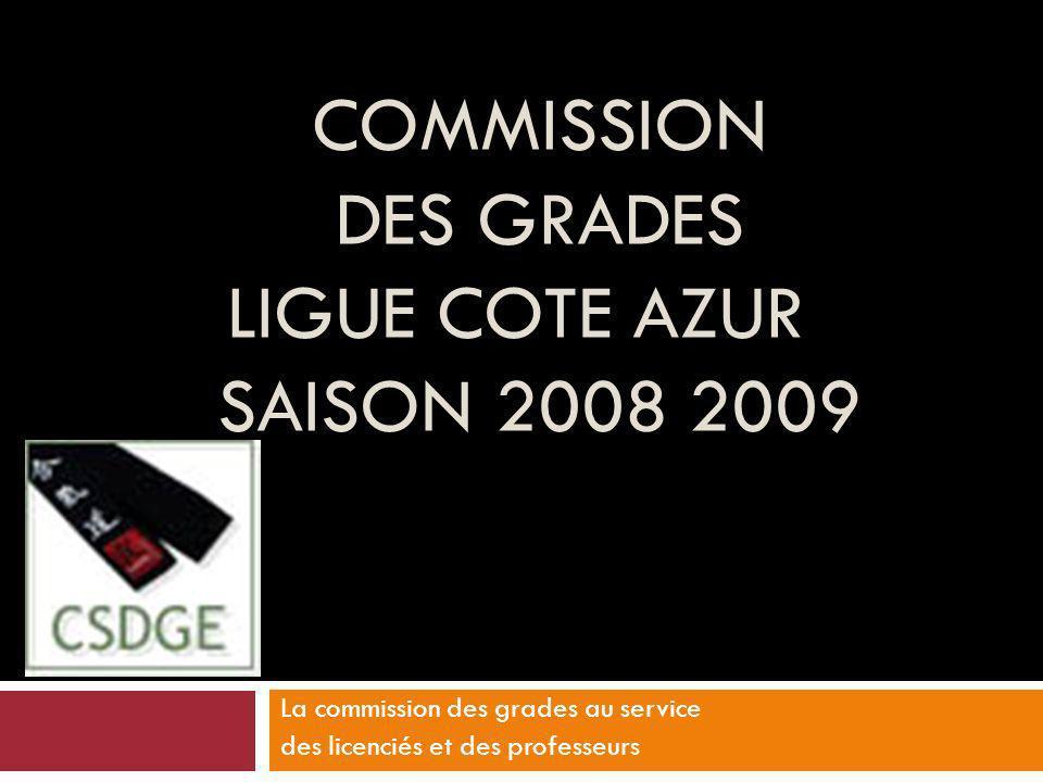 Commission des grades LIGUE COTE AZUR SAISON 2008 2009