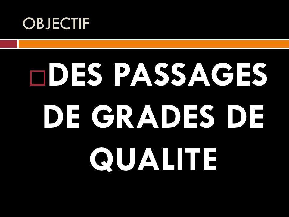 DES PASSAGES DE GRADES DE QUALITE
