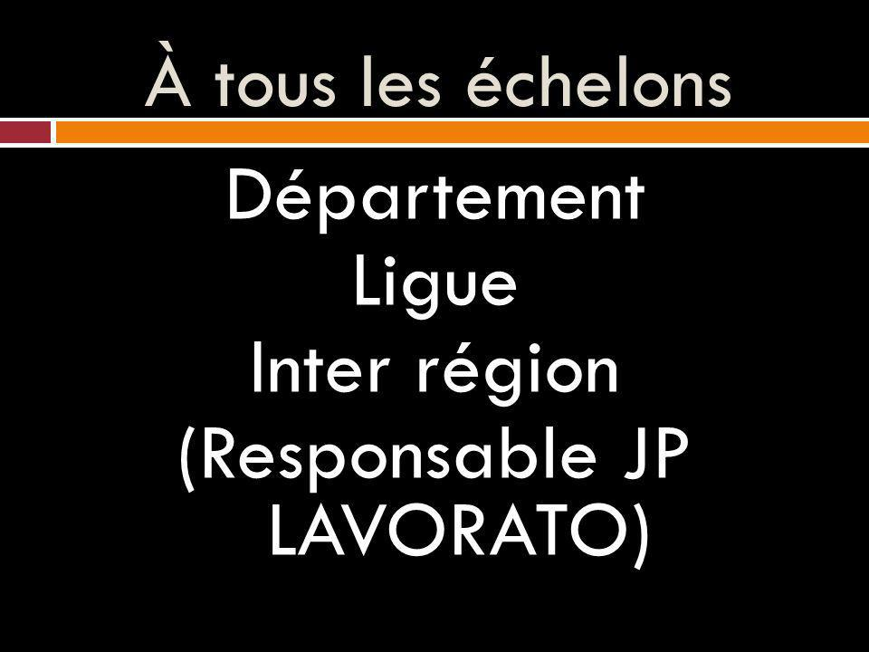 Département Ligue Inter région (Responsable JP LAVORATO)