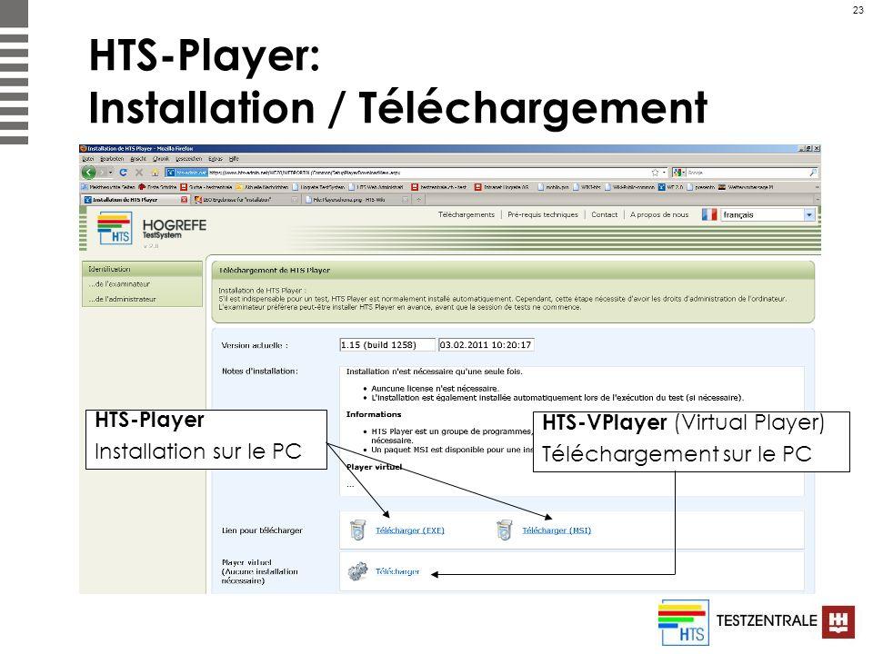 HTS-Player: Installation / Téléchargement