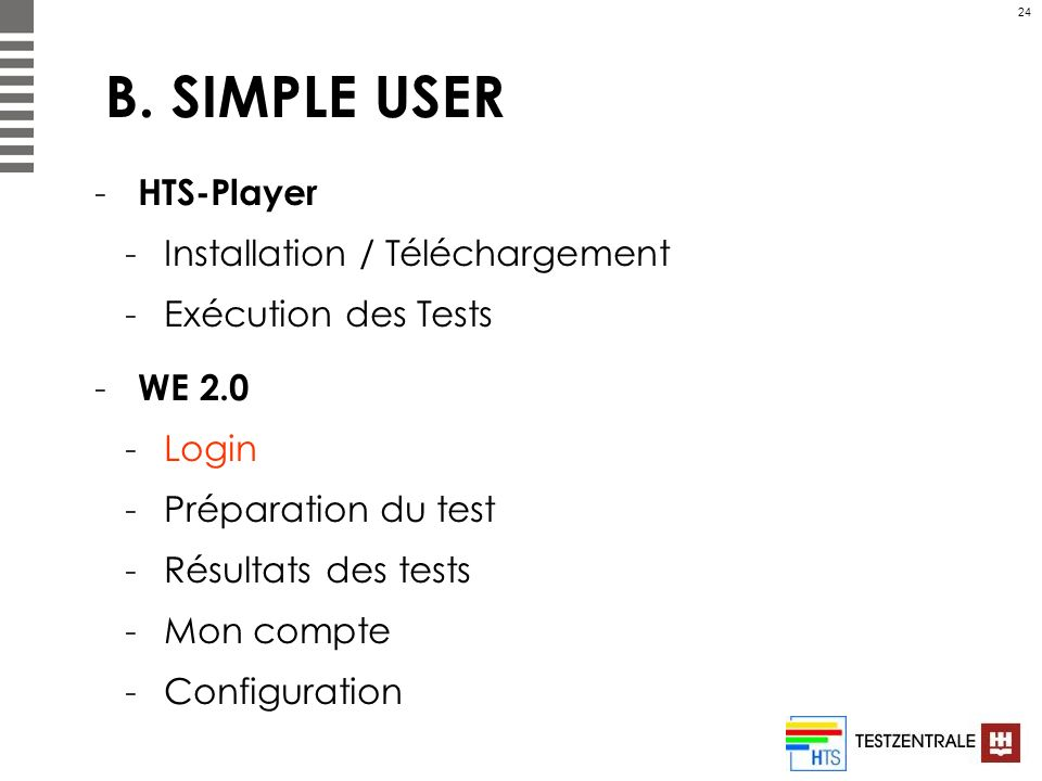 B. SIMPLE USER HTS-Player Installation / Téléchargement