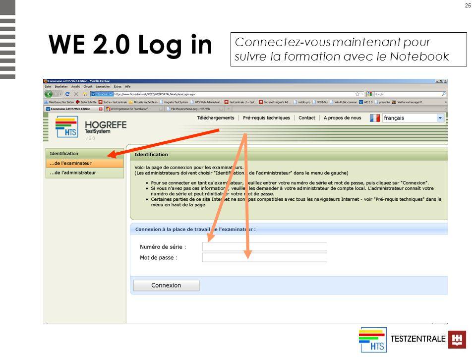 WE 2.0 Log in Connectez-vous maintenant pour suivre la formation avec le Notebook