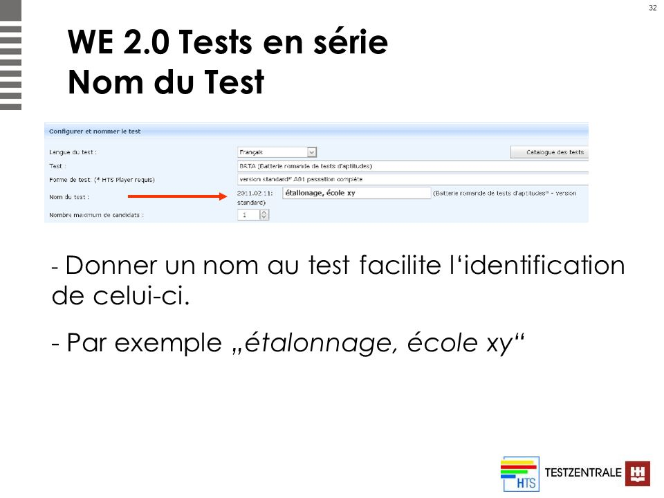 WE 2.0 Tests en série Nom du Test