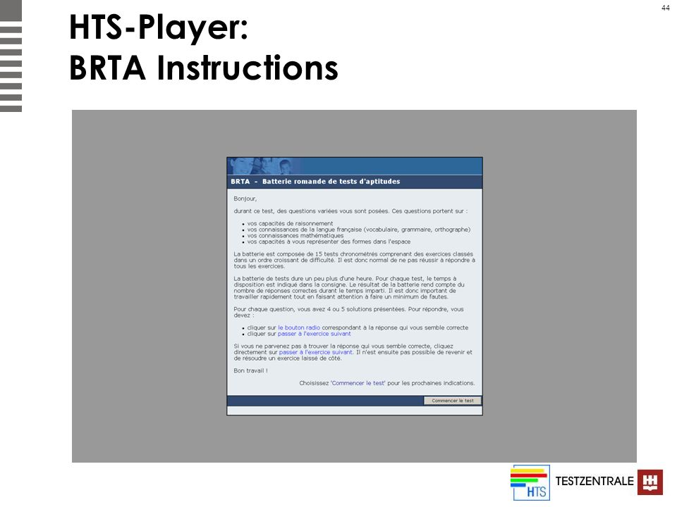 HTS-Player: BRTA Instructions