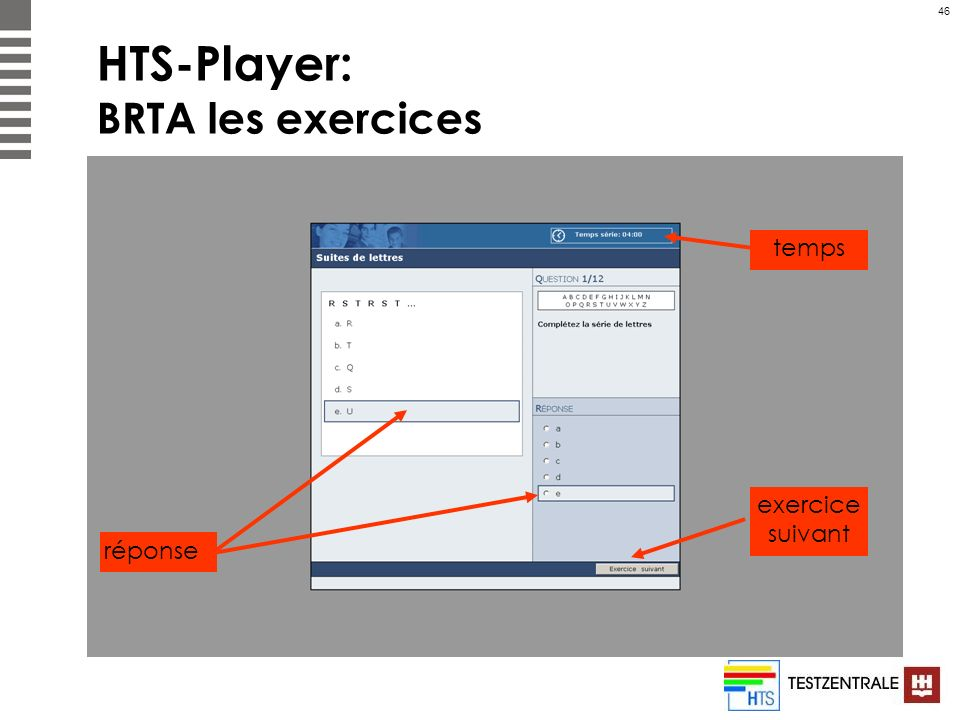 HTS-Player: BRTA les exercices