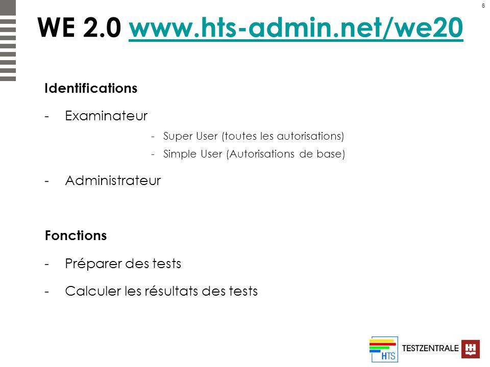 WE 2.0 www.hts-admin.net/we20