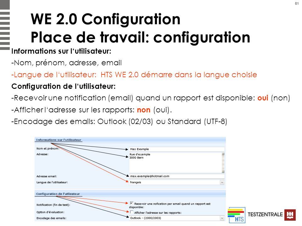 WE 2.0 Configuration Place de travail: configuration