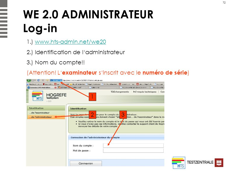 WE 2.0 ADMINISTRATEUR Log-in