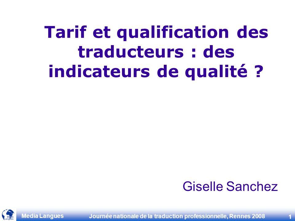 Tarif et qualification des traducteurs : des indicateurs de qualité