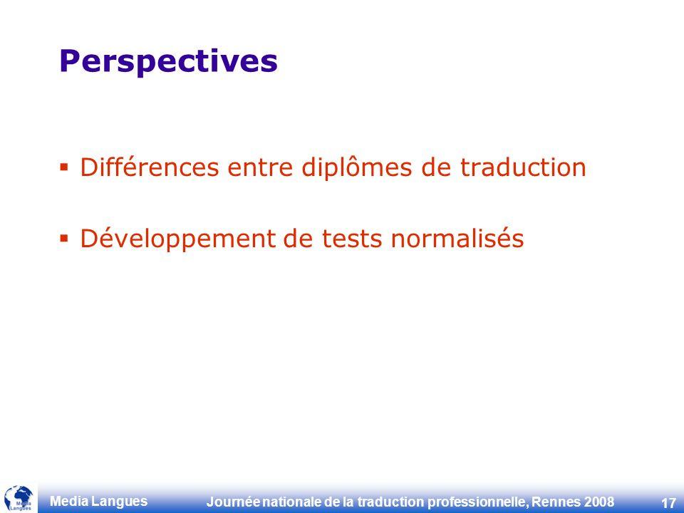 Perspectives Différences entre diplômes de traduction
