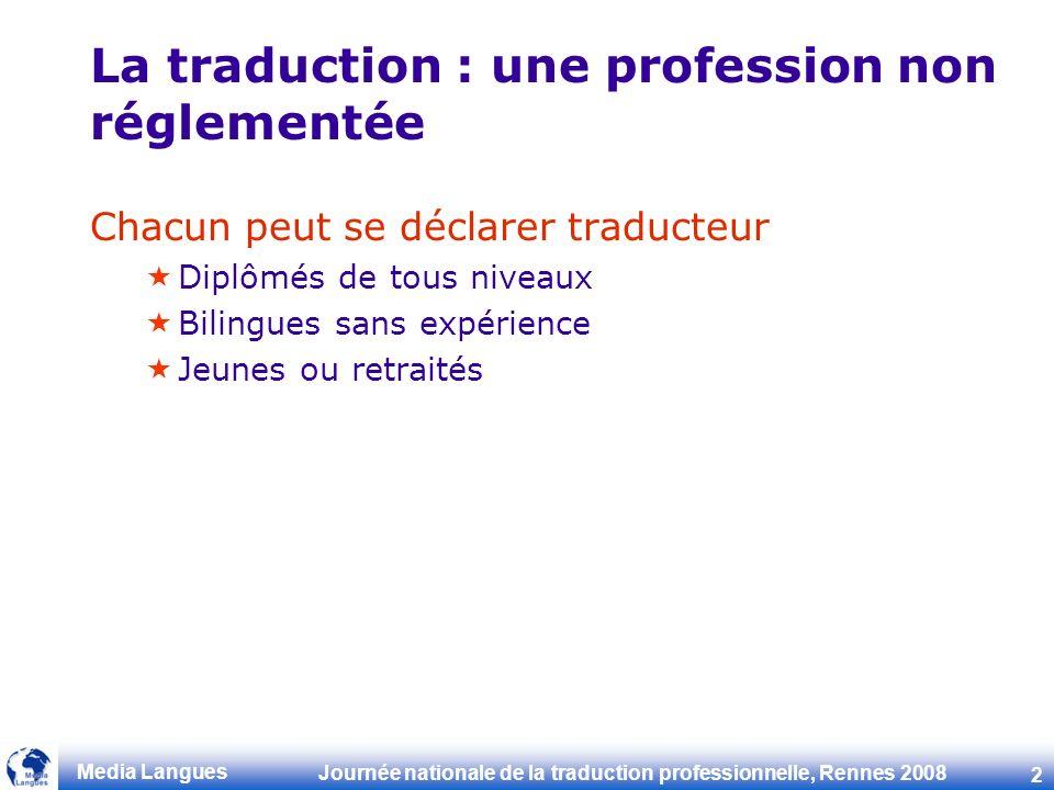 La traduction : une profession non réglementée