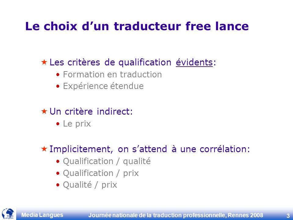 Le choix d'un traducteur free lance