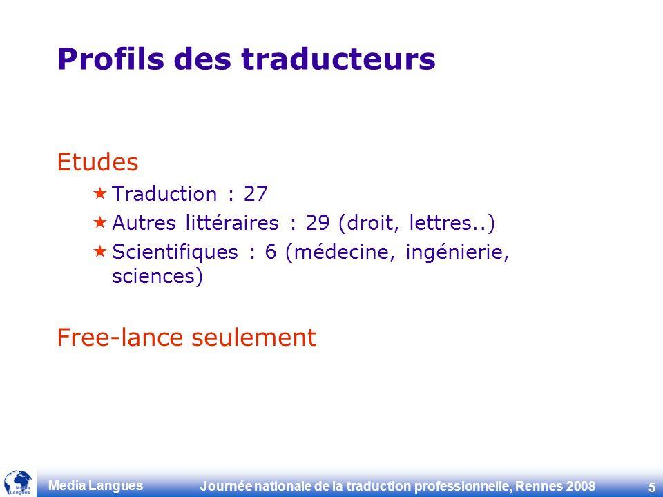 Profils des traducteurs