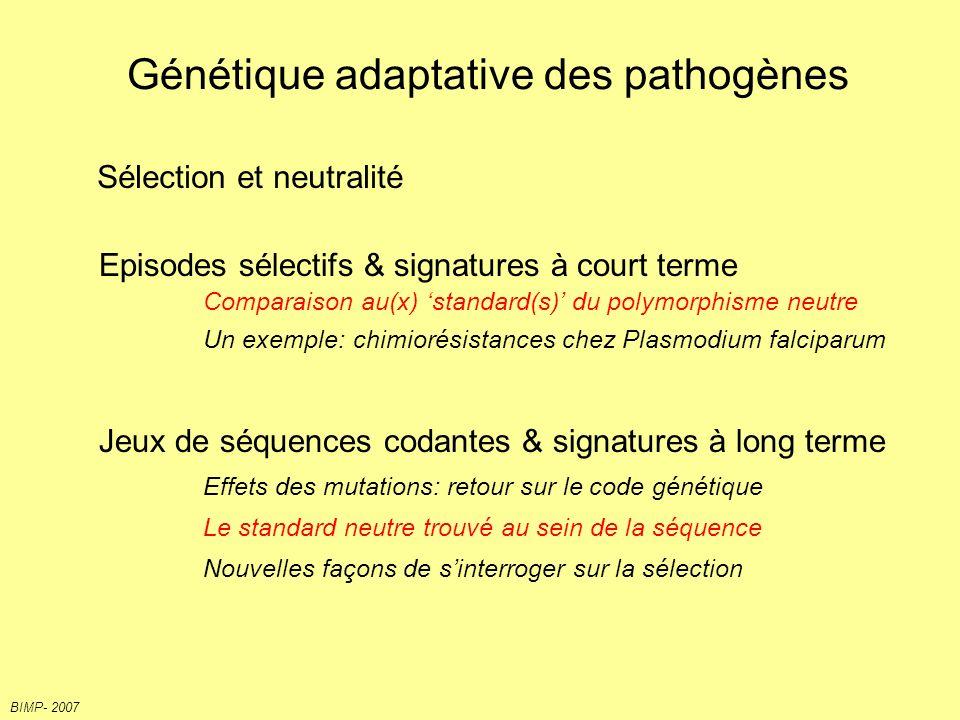 Génétique adaptative des pathogènes
