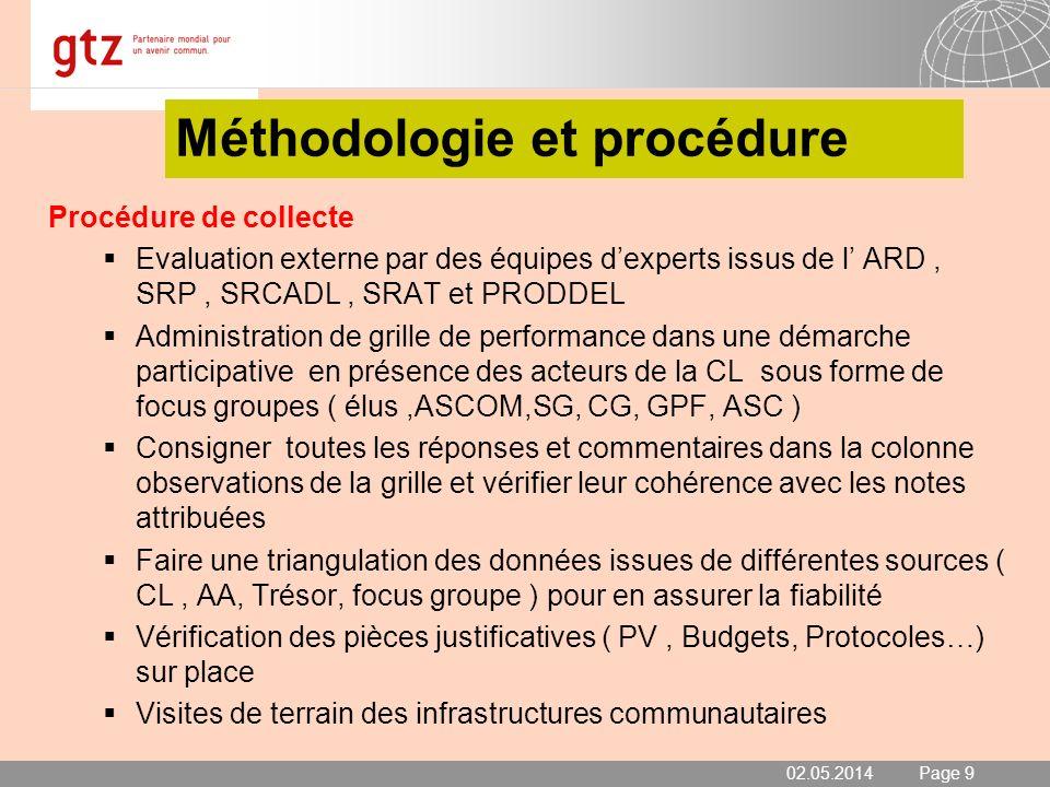Méthodologie et procédure