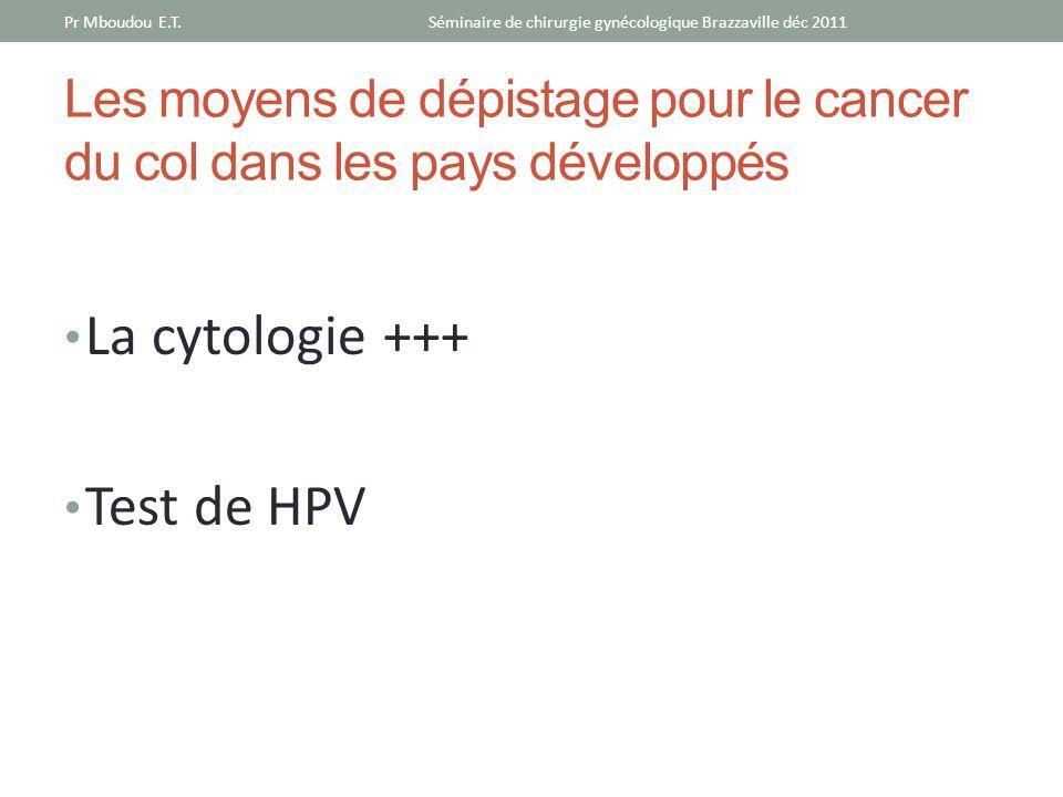 Les moyens de dépistage pour le cancer du col dans les pays développés