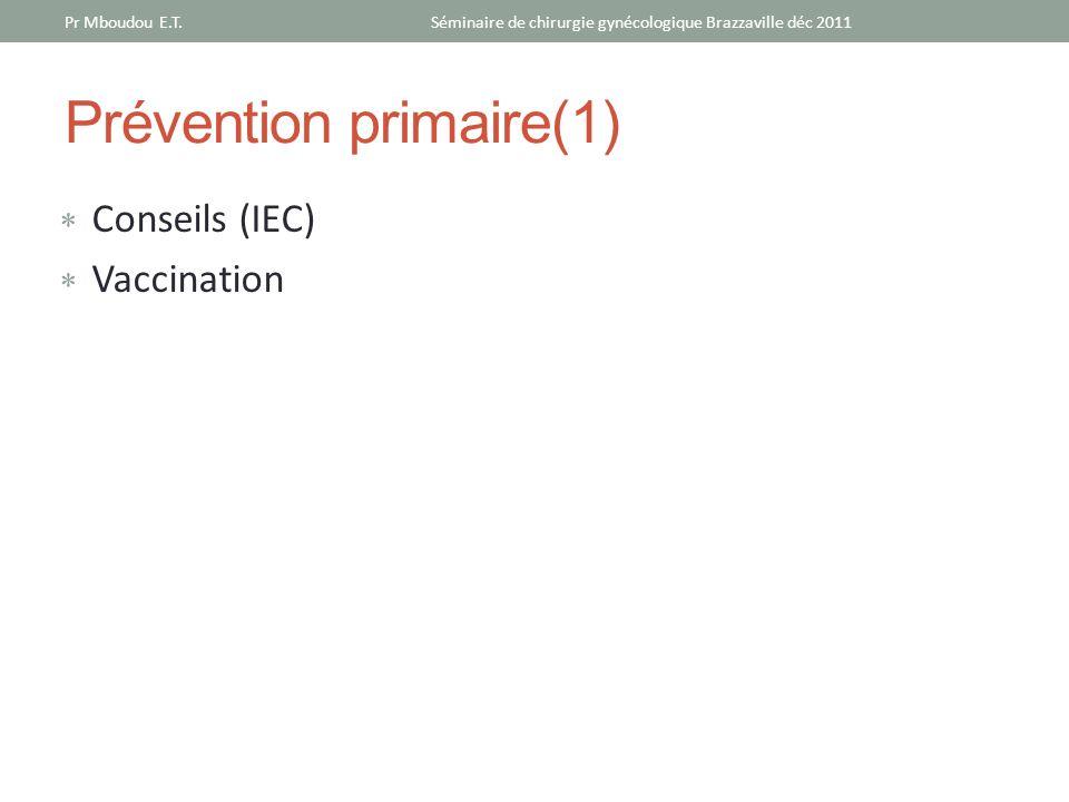 Prévention primaire(1)