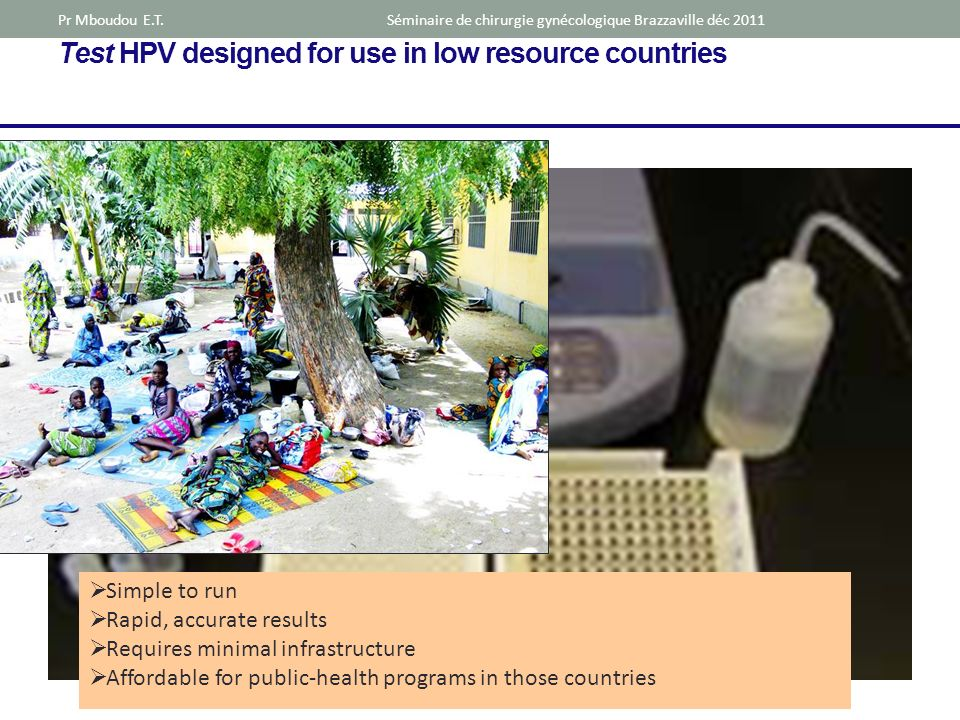 Test HPV designed for use in low resource countries