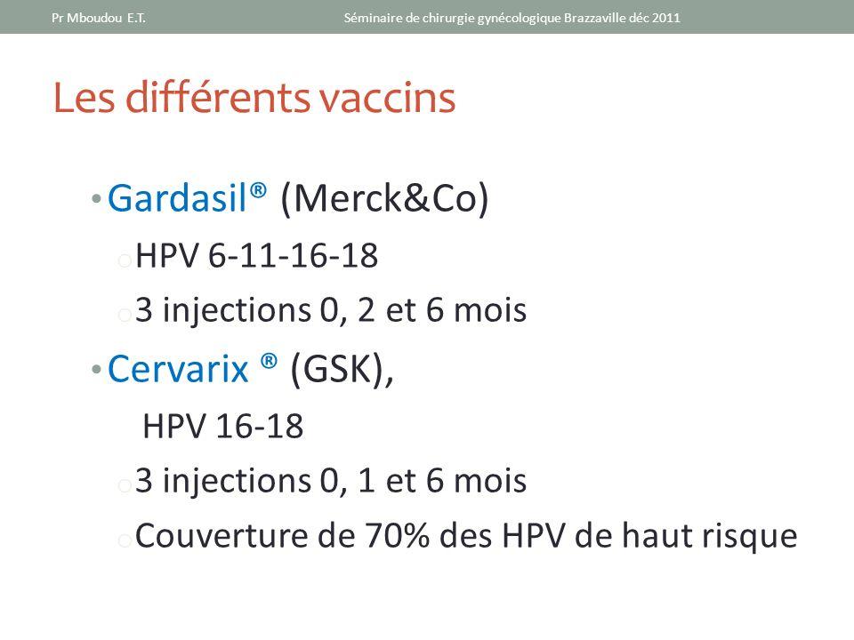 Les différents vaccins