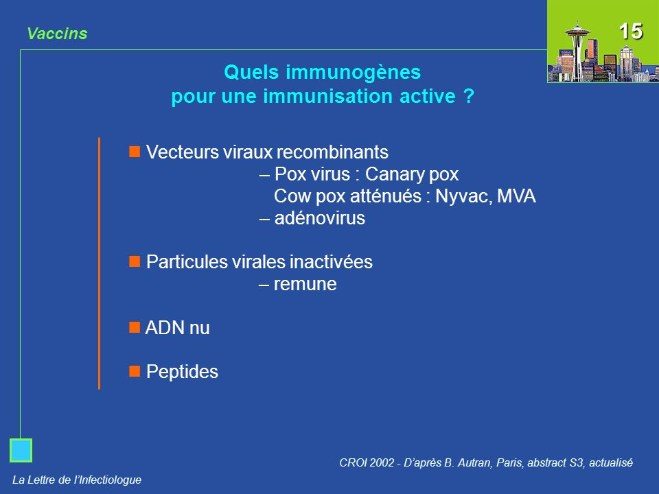 pour une immunisation active