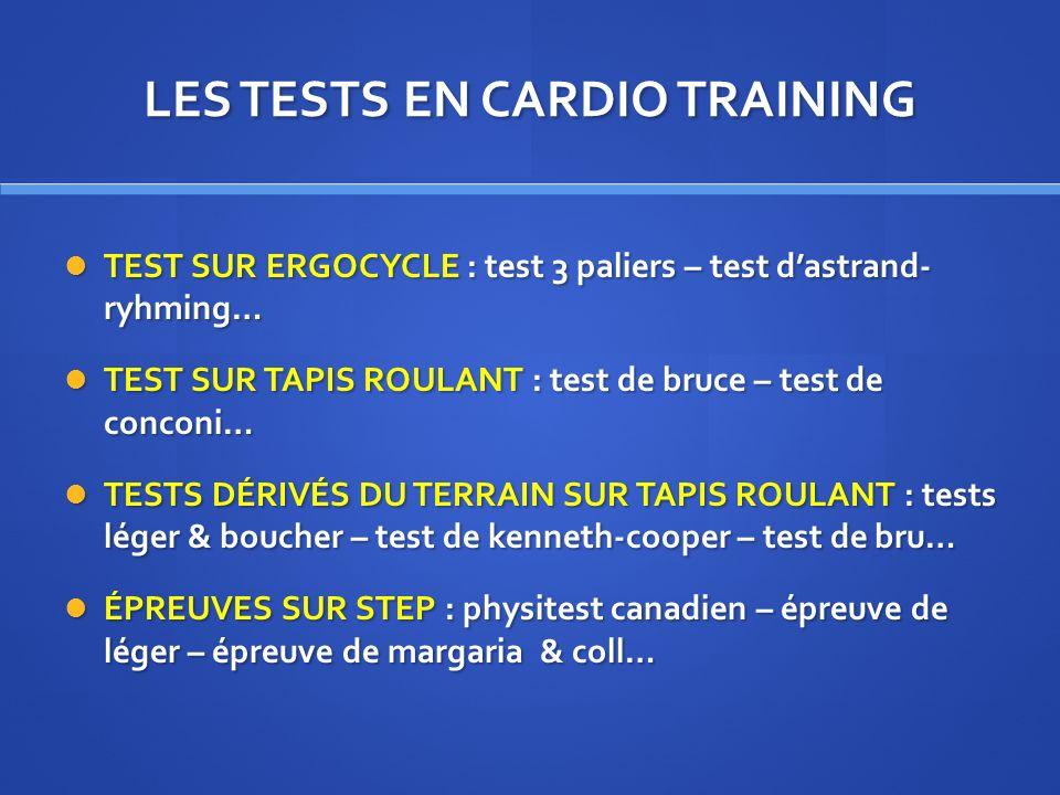 Prise en charge d un pratiquant en cardio training ppt video online t l charger - Test vo2max sur tapis roulant ...