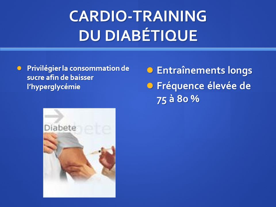 CARDIO-TRAINING DU DIABÉTIQUE
