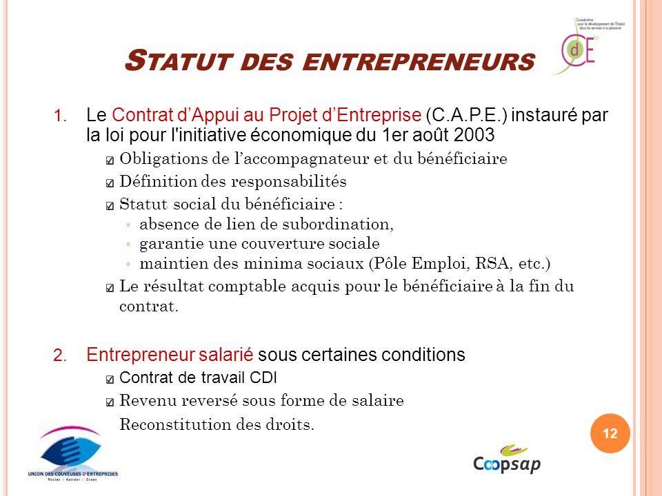 Statut des entrepreneurs