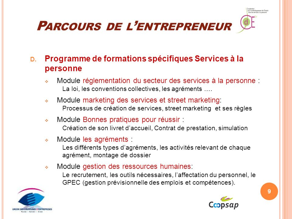 Parcours de l'entrepreneur